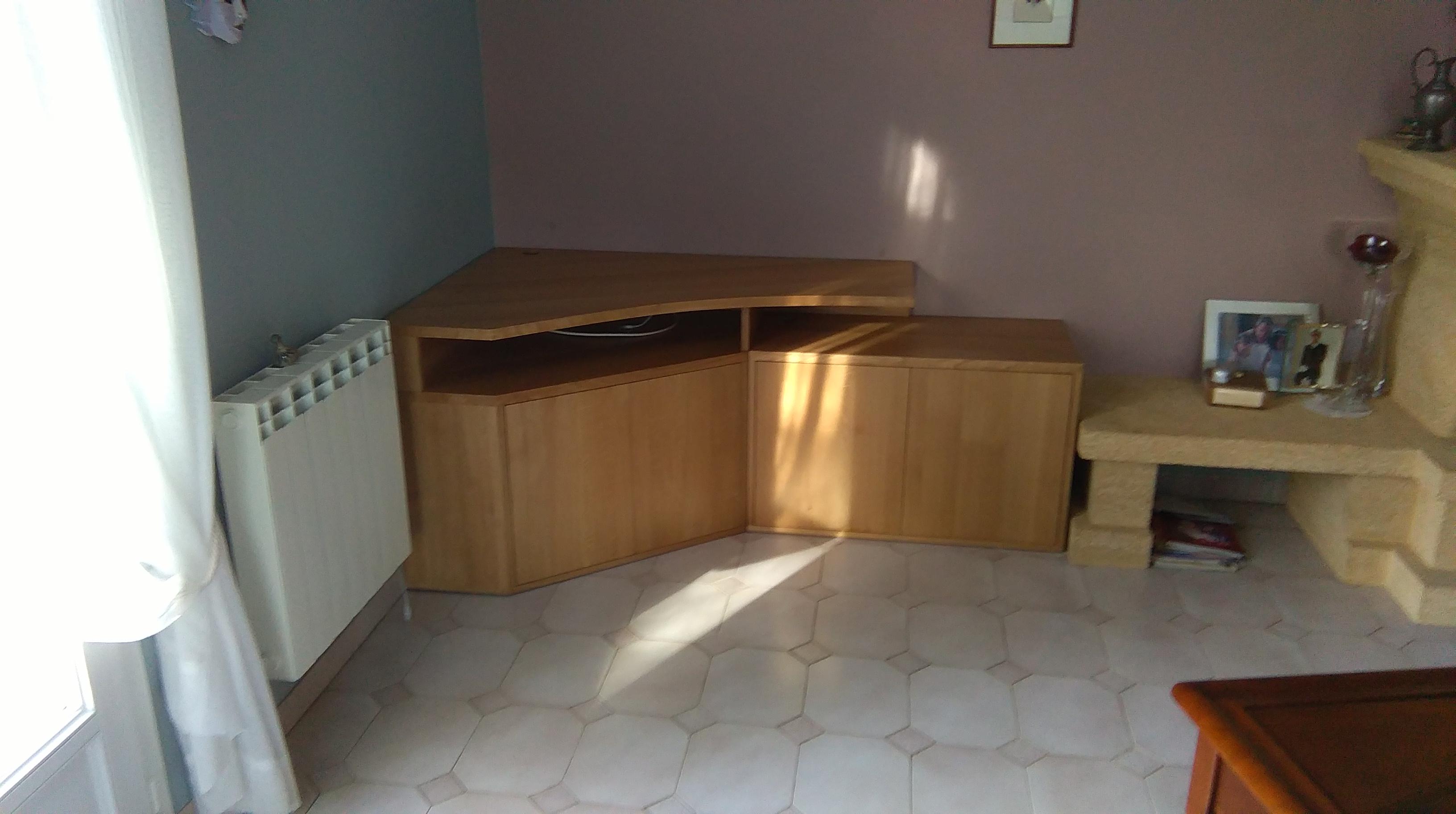Conception et fabrication d un meuble tv d angle sur for Recherche meuble tv