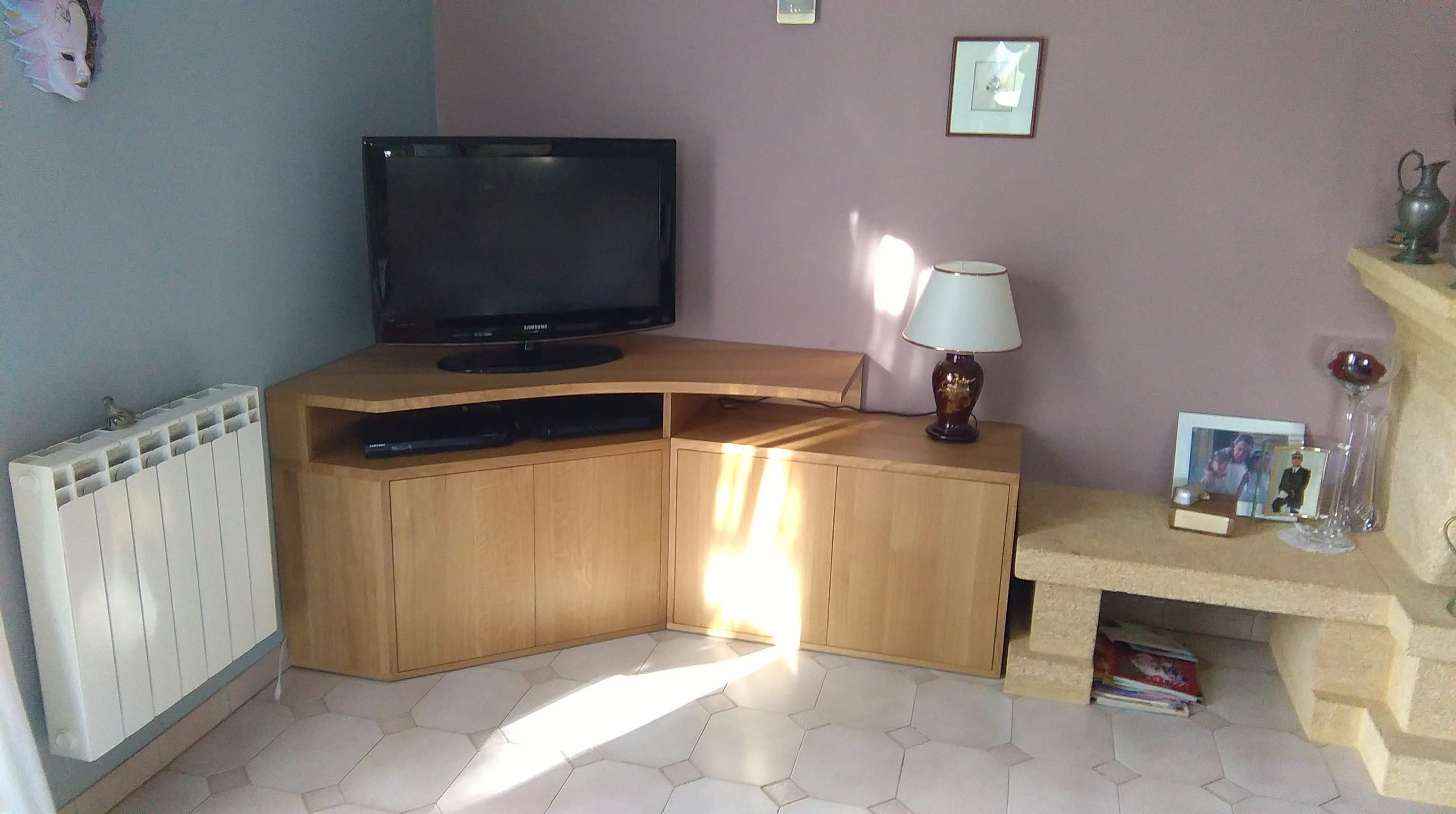 Meuble Tv Angle Bas conception et fabrication d'un meuble tv d'angle sur mesure